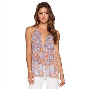 💐 Joie Shara Silk Floral Tassel Tank Top 💐